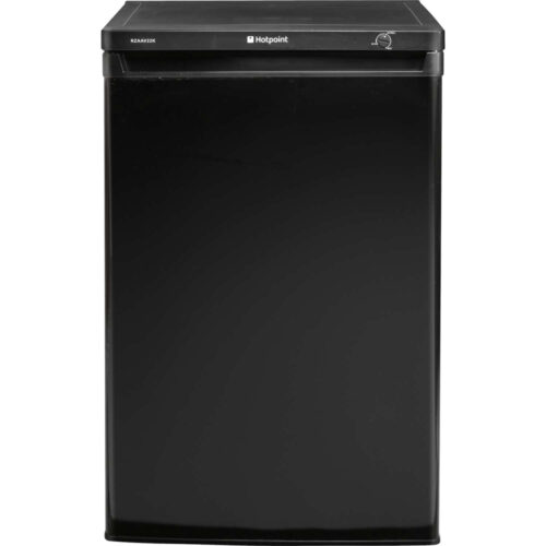 hotpoint rzaav22k black 55cm wide under counter freezer