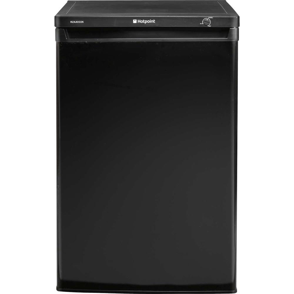 hotpoint rzaav22k black 55cm wide under counter freezer