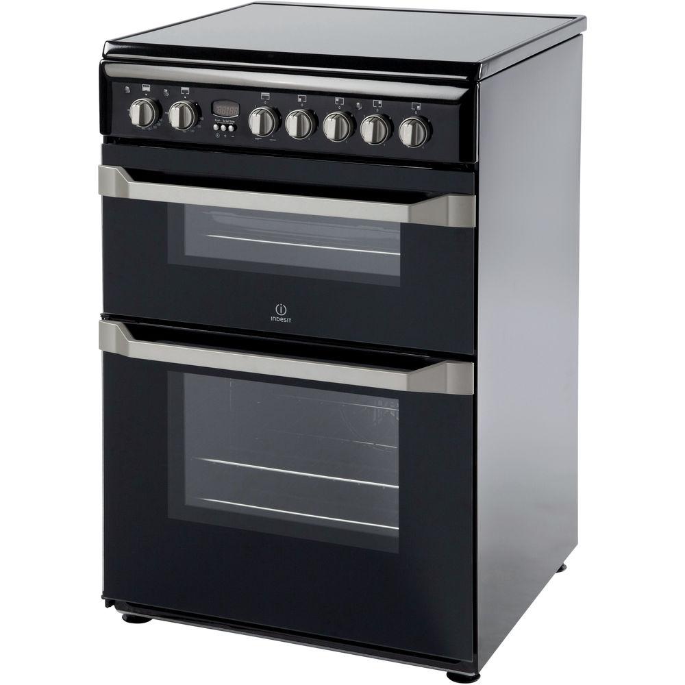 indesit black cooker