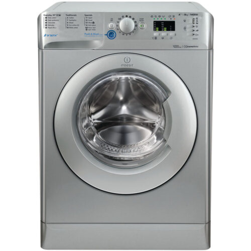 indesit silver 8kg washing machine