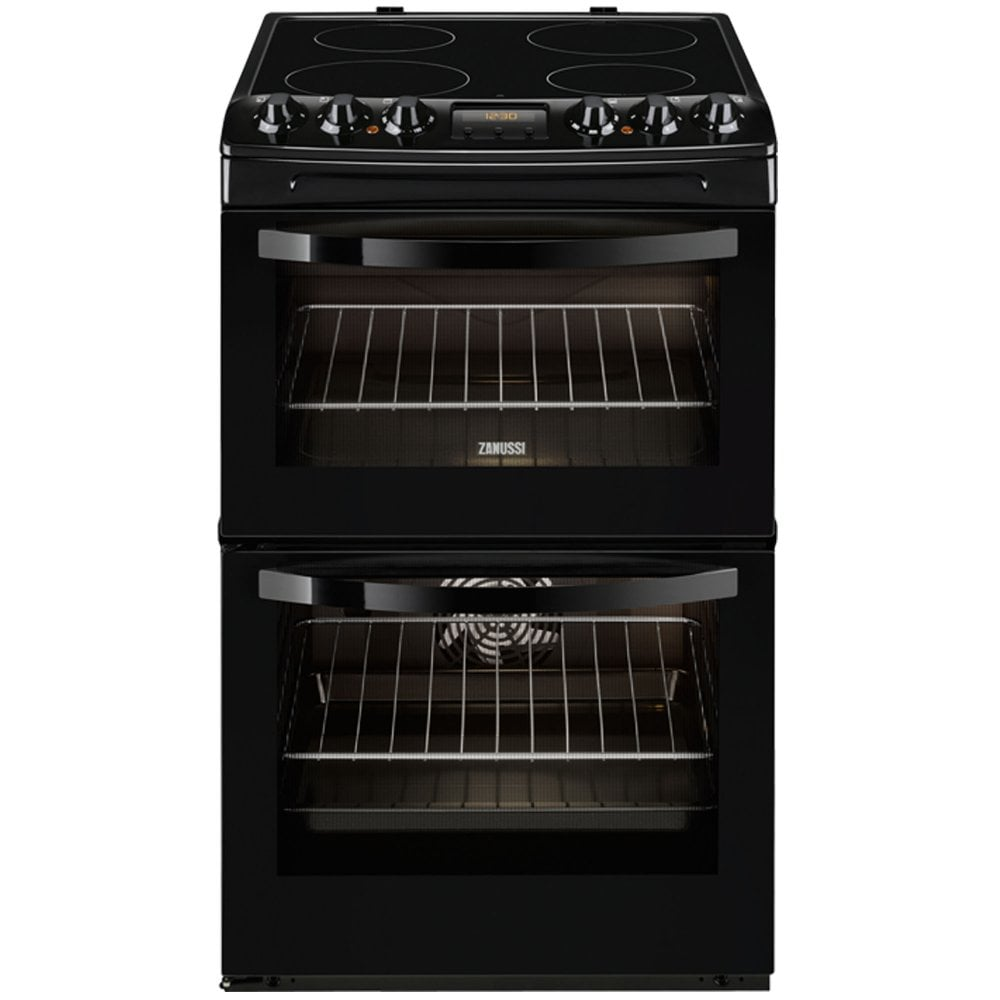 zanussi zcv48300ba 55cm double oven electric-cooker