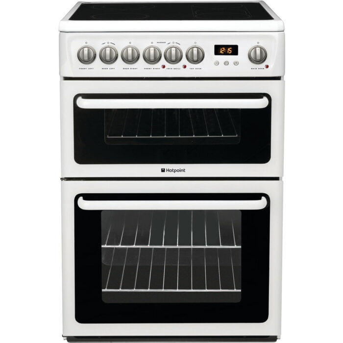 hotpoint polar white electric cooker