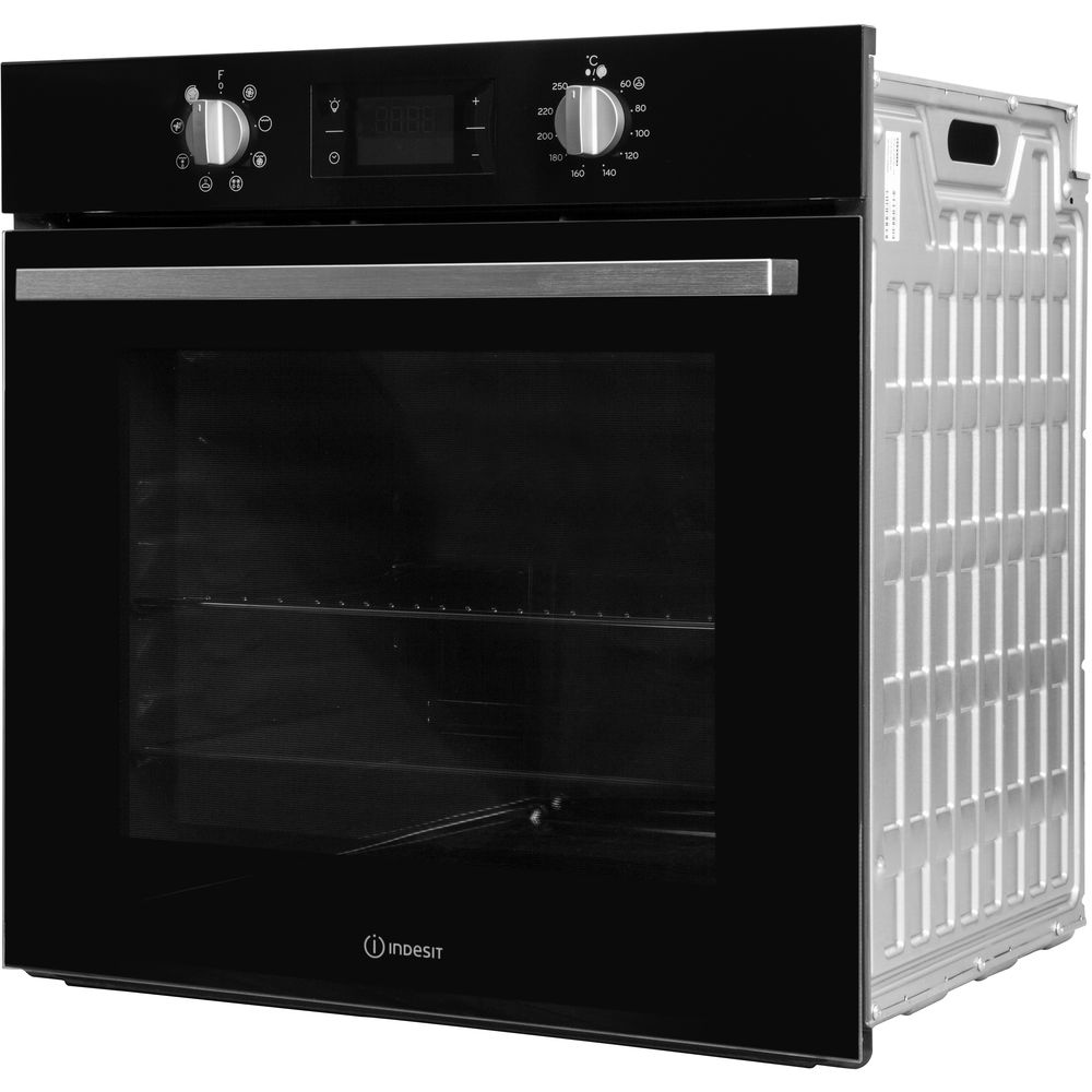 indesit black oven