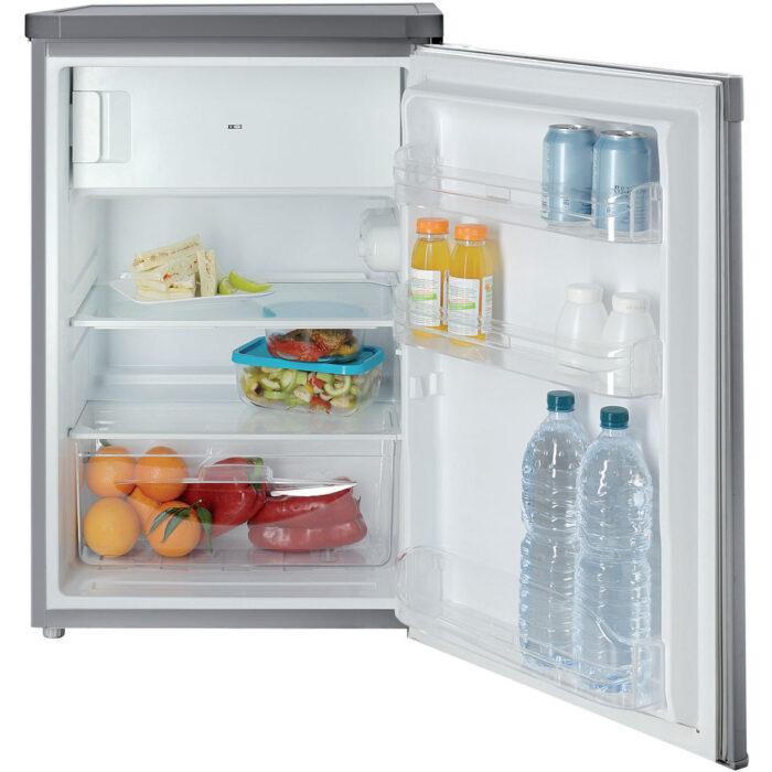 indesit silver fridge