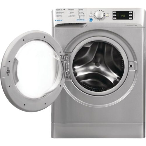 indesit silver washing machine