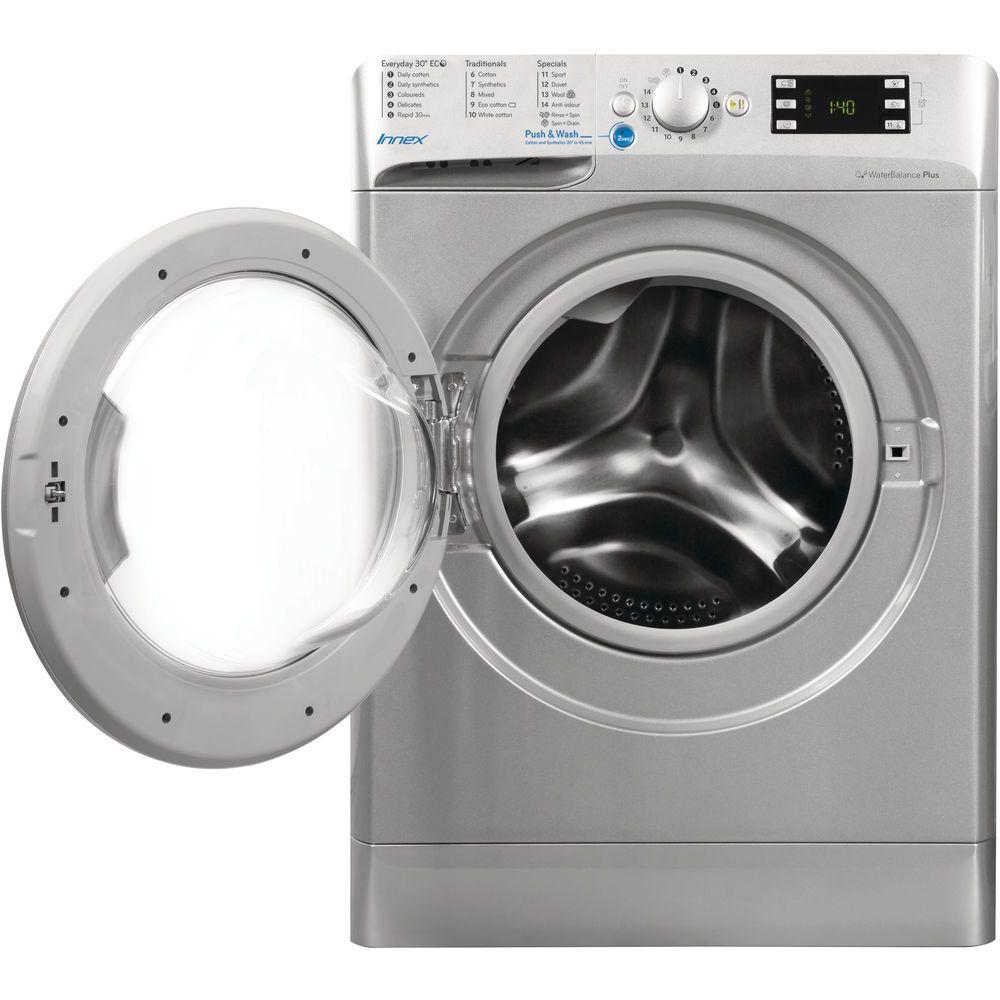 indesit silver washing machine