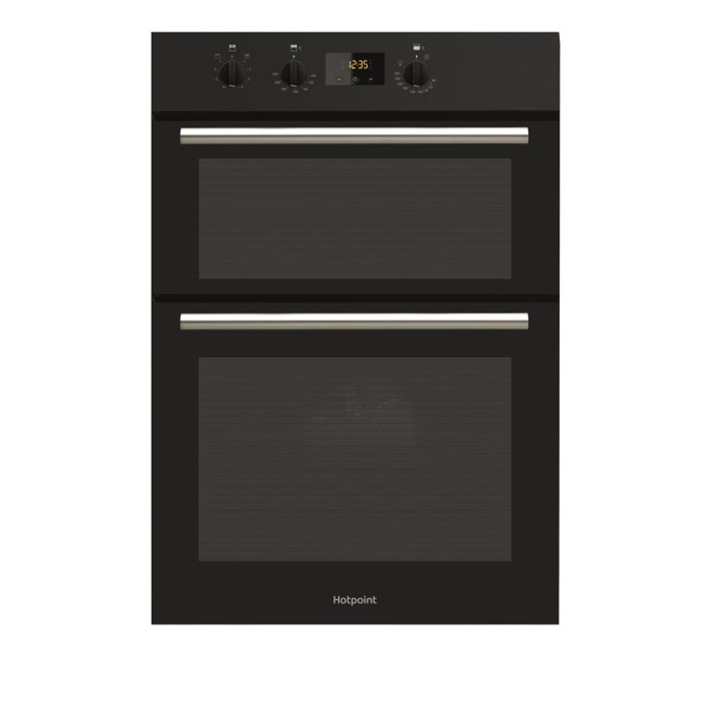hotpoint black double oven