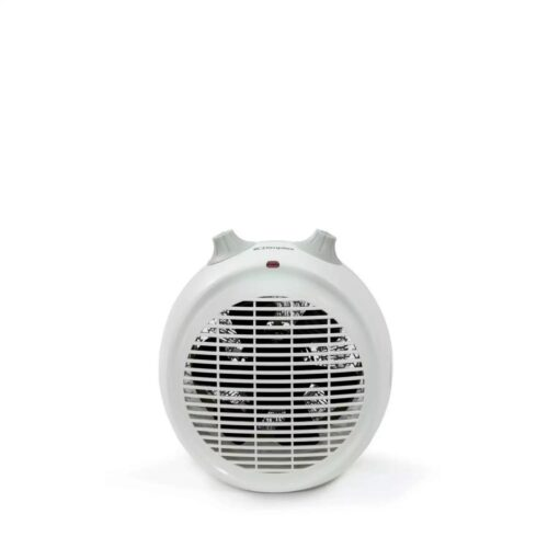 white 2kw upright fan heater
